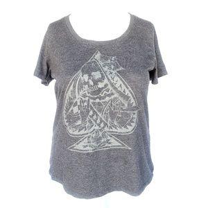 Torrid Spade Skull Dark Gray Tshirt